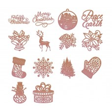 Couture Creations Highland Christmas Mini Dies Kit 3 - 1 of each - 5% discount